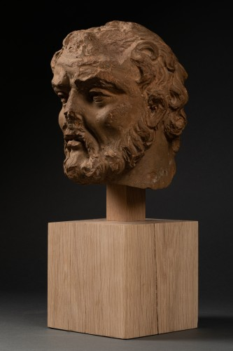 <= 16th century - Study of a terracotta head, representing Hercule -Italy - Late 15th century