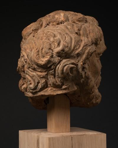 Study of a terracotta head, representing Hercule -Italy - Late 15th century - Renaissance