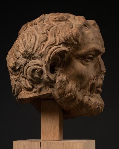 Renaissance - Study of a terracotta head, representing Hercule -Italy - Late 15th century