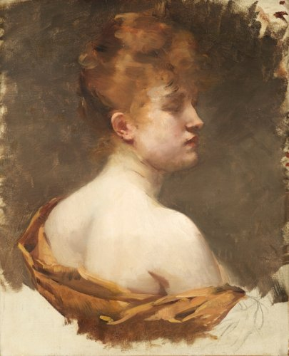 Portrait of a Young Redhead, Albert BESNARD