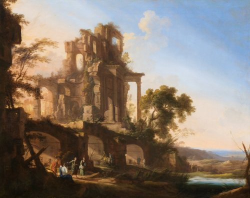 Landscape with large ruins, Pierre-Antoine PATEL the Younger
