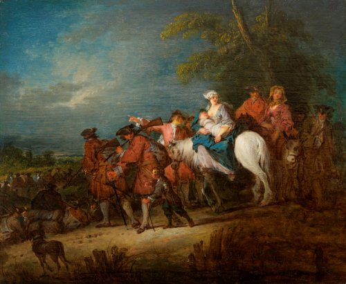 Troops on the march, Jean-Baptiste PATER