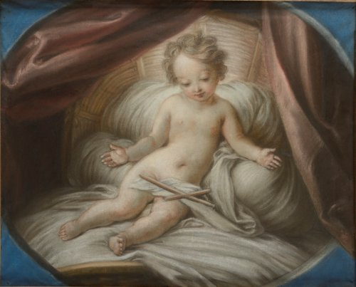 The Child Jesus in the Cradle - Charles Antoine COYPEL  (1694 - 1752)
