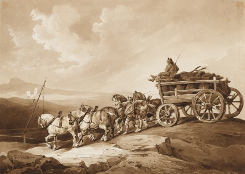 The Coal Waggon, Theodore GERICAULT