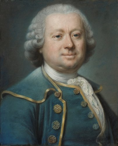 Jean VALADE (1709 -1787) - Pastel Portrait of man in blue coat