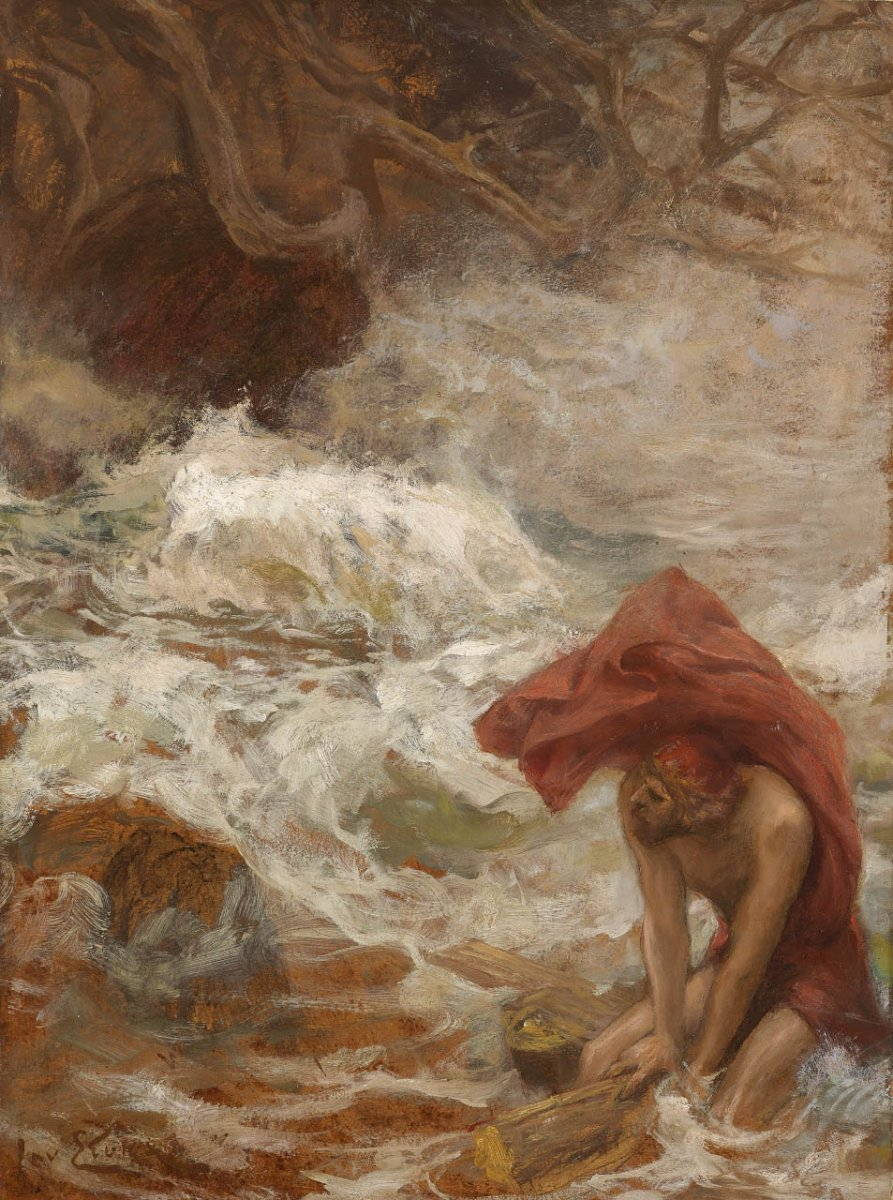 Jan Styka 1858 1925 Ulysses Escapes From Charybdis