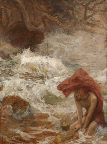 Jan STYKA (1858-1925) - Ulysses escapes from Charybdis