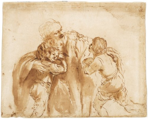 Jacob Blessing Joseph's Sons,  LE GUERCHIN