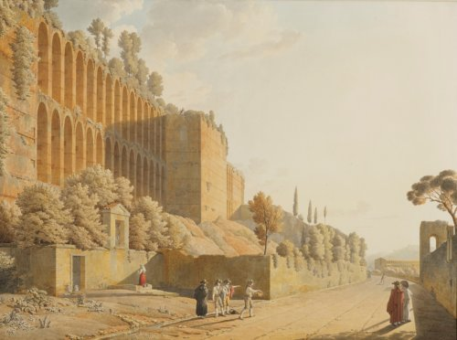 Jean-Thomas THIBAULT (1757-1826) - The Walls of Rome and Way of the Tombs in Rome