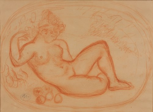 Aristide MAILLOL (1861 -1944) - Nude with fruits