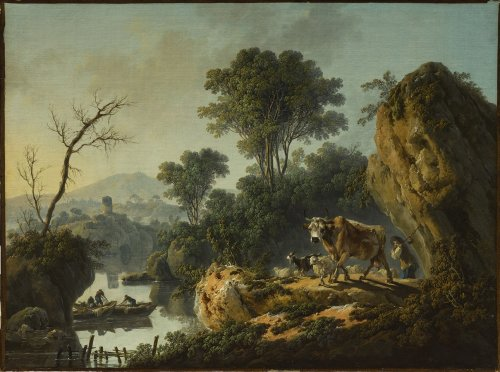 Jean Baptiste PILLEMENT (Lyon, 1728 - 1808) - Morning landscape