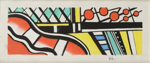 Fernand LÉGER (Argentan, 1881 - Gif-sur-Yvette, 1955) - Abstract composition