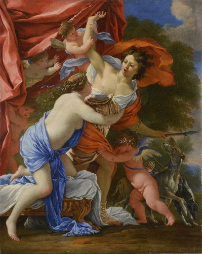 Venus and Adonis - Michel DORIGNY (Saint-Quentin, 1617 - Paris, 1663)
