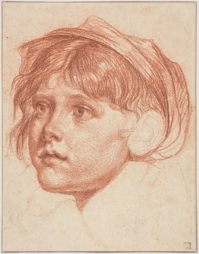 Jean-Baptiste GREUZE - Young boy with a cap