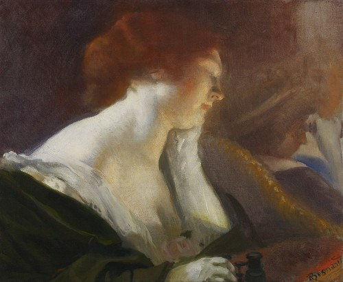 Albert BESNARD (1849-1934) - At the Opera