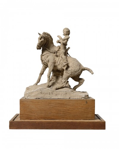 Jean Ary BITTER (Marseille, 1883-1973) - Louis XIII child on horseback