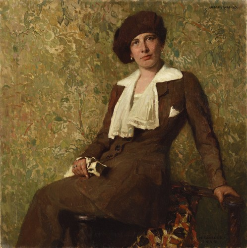 Portrait of a woman -  Hermann GÖHLER (GOEHLER) (1874 -1959)