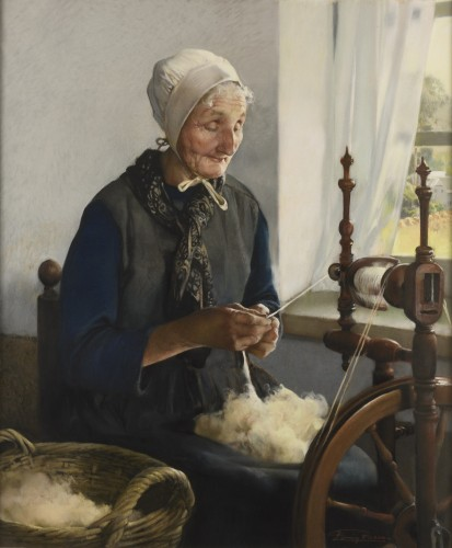 Firmin BAES (1874 - 1945) - The Old Spinner