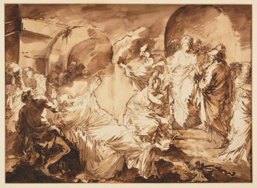André Jean LEBRUN (1737 - 1811) - The resurrection of Lazarus