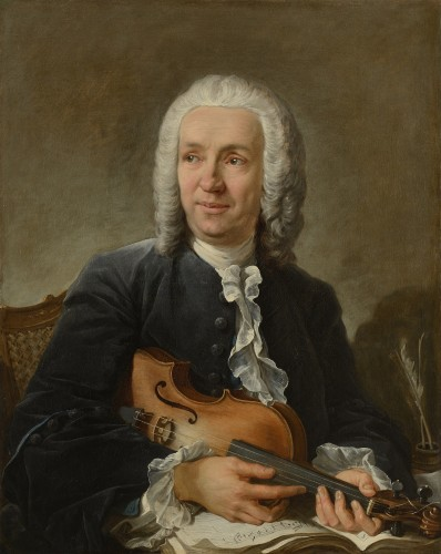 François BOUCHER (1703-1770) - Portrait of the composer Francesco Geminiani