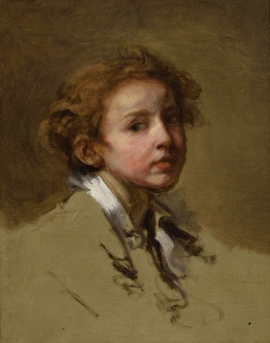 Jean-Baptiste Greuze (1725 –1805) - Head of a young boy
