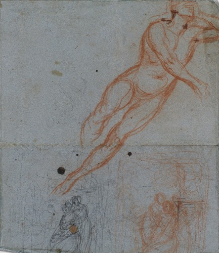Love trying the effect of its torch - Entourage of Pierre-Paul PRUD'HON (1758-1823)  - Paintings & Drawings Style