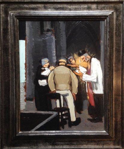 The christening - Pierre LE TRIVIDIC (1898-1960)