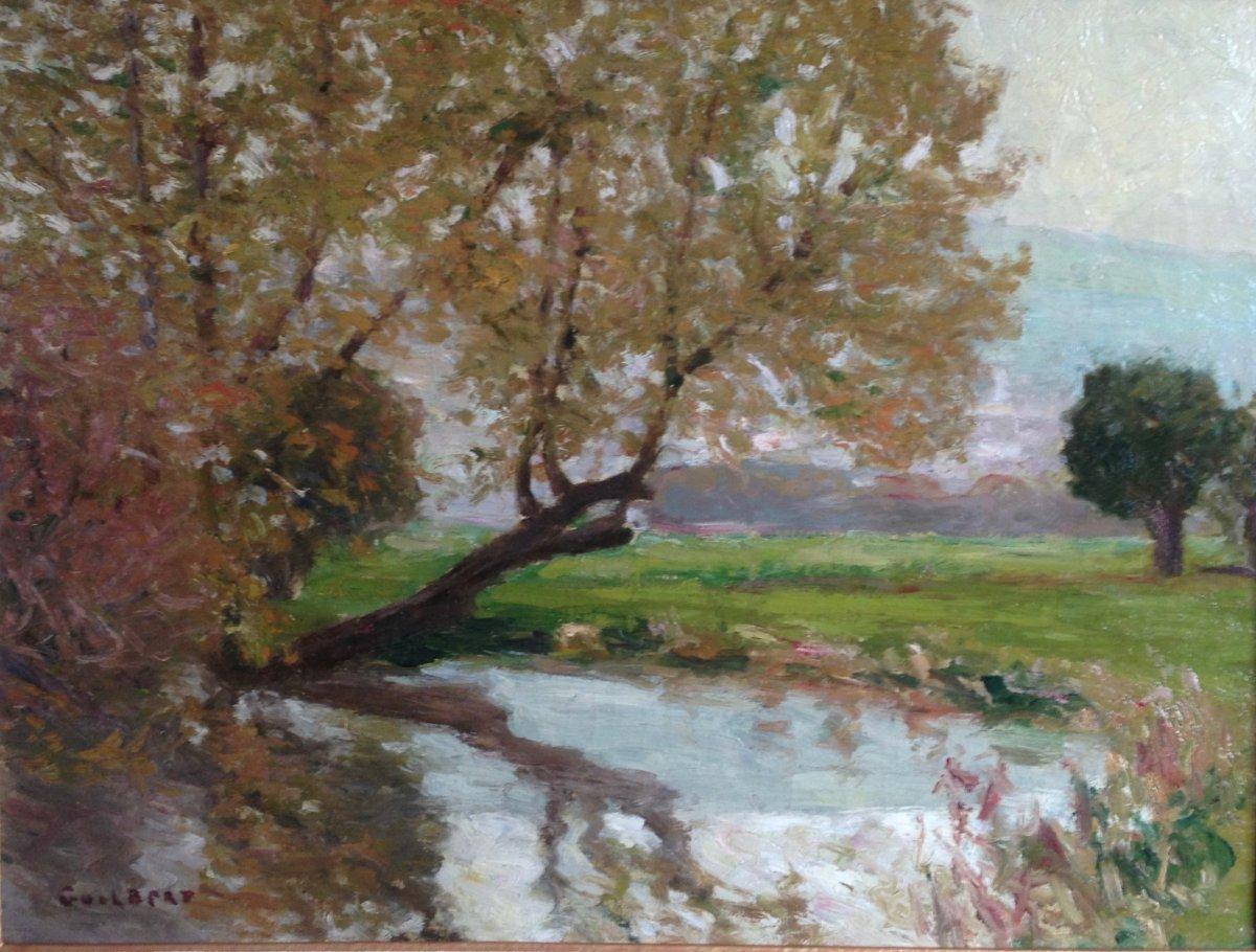 Peintres Ecole De Rouen narcisse guilbert (1878-1942) - paysage normand