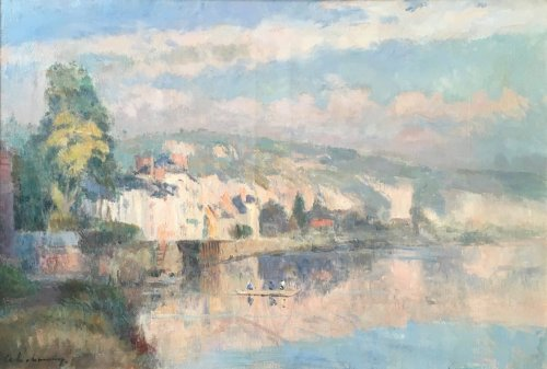 The river Seine-  Albert LEBOURG 1849-1928