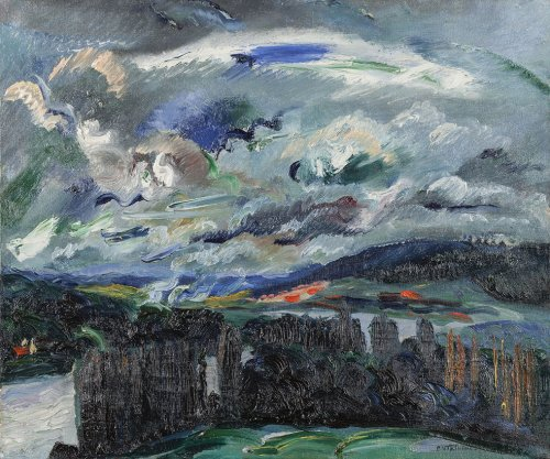 Pierre Le Trividic (1898-1960) - Gale of wind on the Seine river