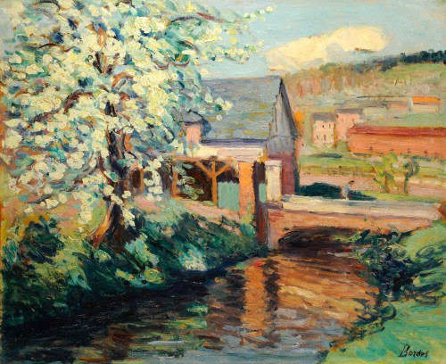 Léonard BORDES (1898-1969) - Lavoir near Rouen