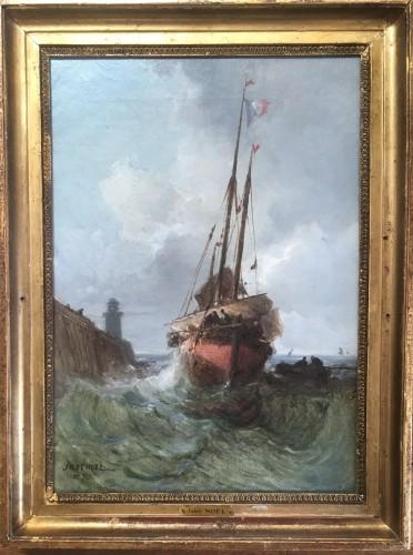 Jules Noël (1815-1881) - Return of fishing