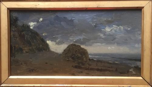 Adolphe Félix Cals (1810-1880) - Honfleur Beach - Paintings & Drawings Style
