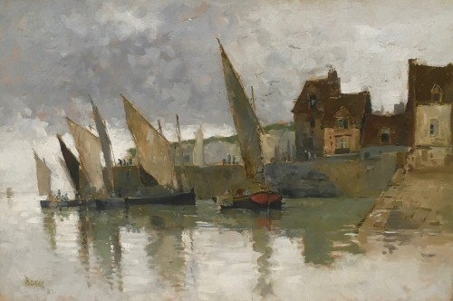 Boggs Frank Myers (1855-1926) - Fishing Boats in Yport