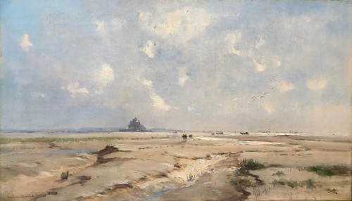 Léon CLAVEL dit IWILL (1850-1923) - Bay of Mont Saint-Michel
