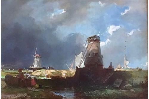 Eugène Modeste Lepoittevin (1806-1870) - The mills