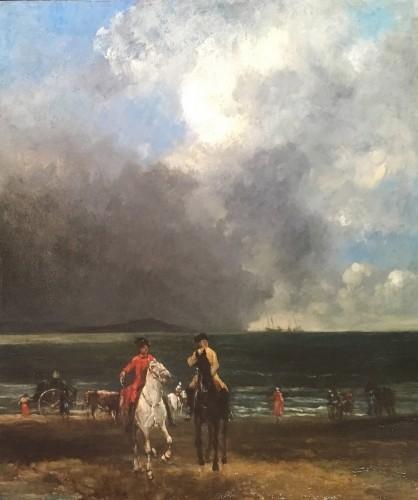 John Léwis BROWN (1829-1890) - Walk on the beach