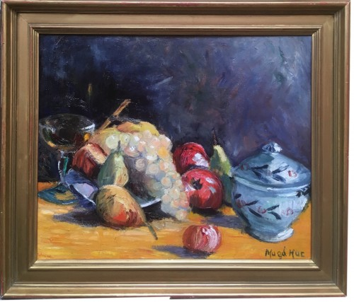 Magdelaine HUE (1882-1944) - Nature morte aux fruits