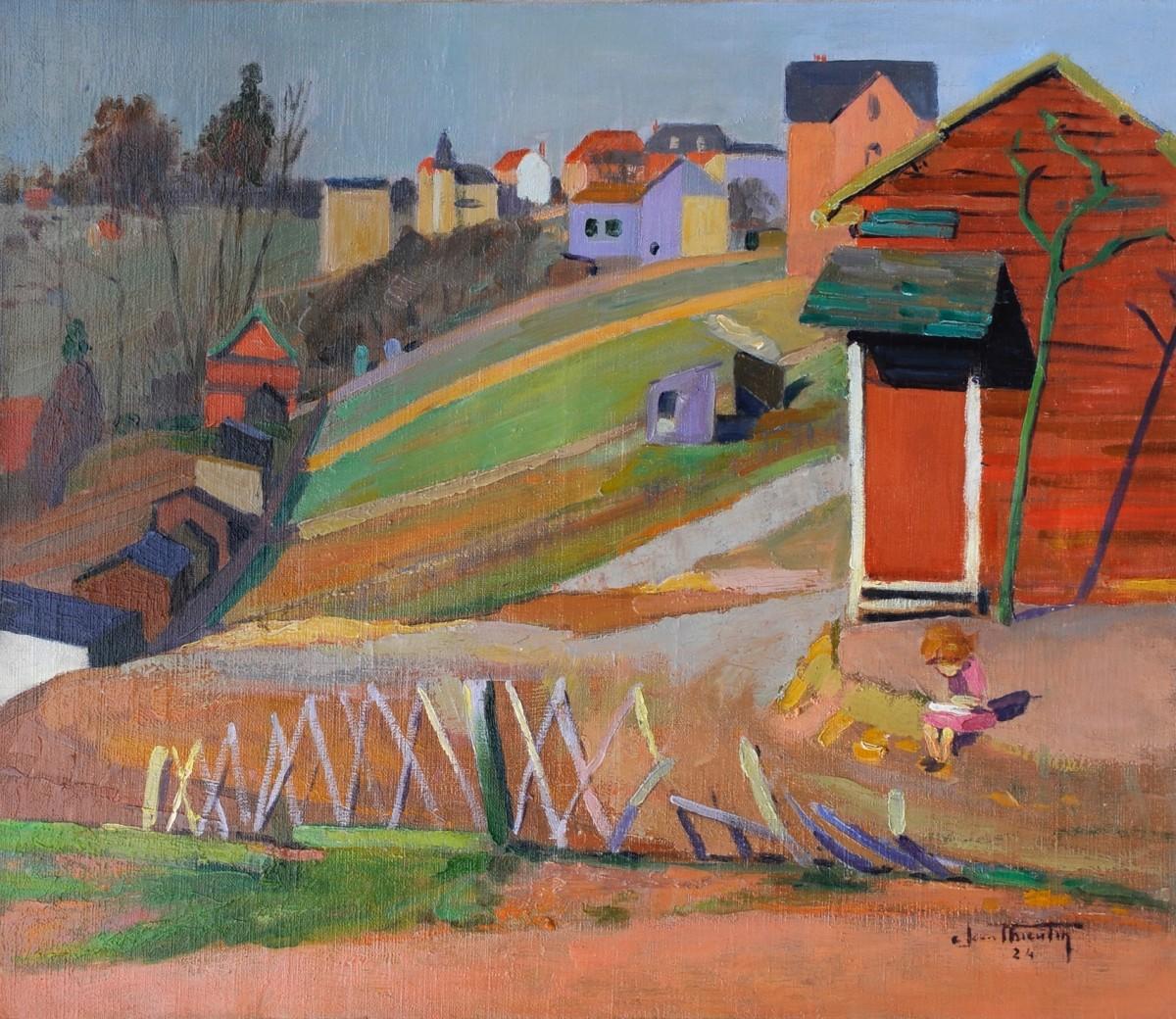 Peintres Ecole De Rouen jean thieulin (1894-1960) - les hauteurs de rouen - xxe