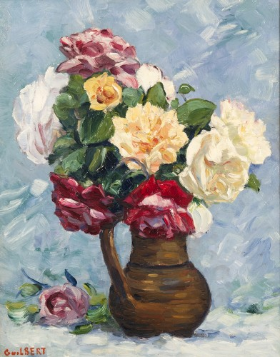 Narcisse GUILBERT (1878-1942) - Bouquet de roses