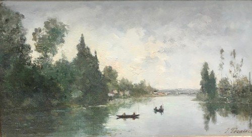 Paul-Emmanuel PERAIRE (1829-1893) - Bord de Seine in Normandy