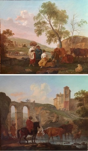 Pair of paintings - Claude Michel Hamon DUPLESSIS (act.c.1791-c.1799)