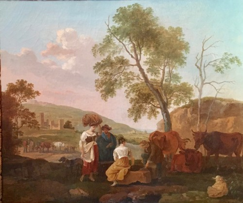 Paintings & Drawings  - Pair of paintings - Claude Michel Hamon DUPLESSIS (act.c.1791-c.1799)