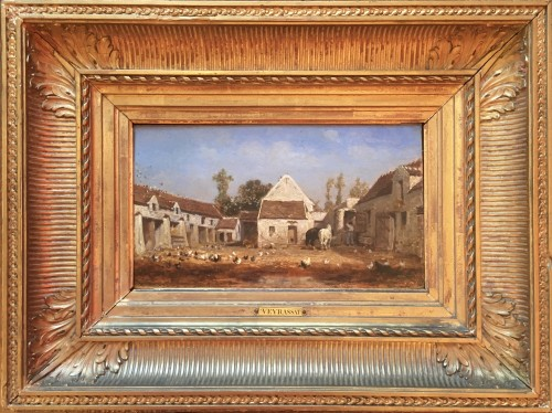 Farmyard - Jules Jacques Veyrassat (1828-1893)