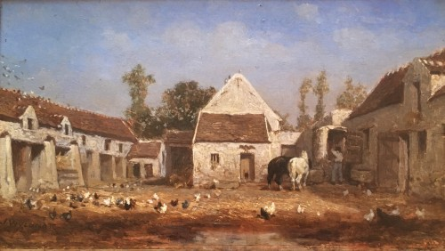 Farmyard - Jules Jacques Veyrassat (1828-1893) - Paintings & Drawings Style