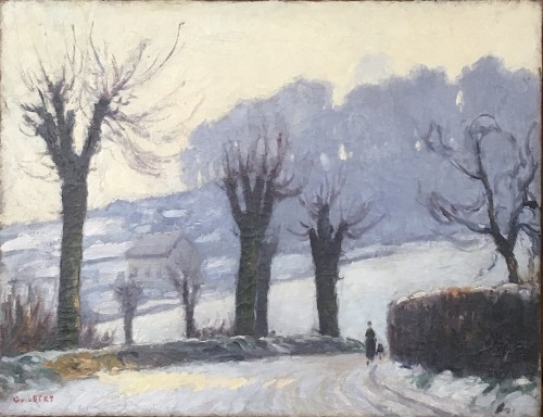 Narcisse GUILBERT (1878-1942) - Neige au Mont Gargan