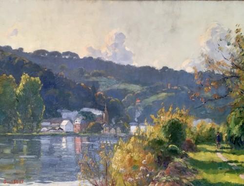 Narcisse GUILBERT (1878-1942) - Coteaux de la Seine near La Bouille