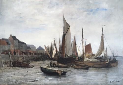 Fishing boats - Robert MOLS (1848-1903)