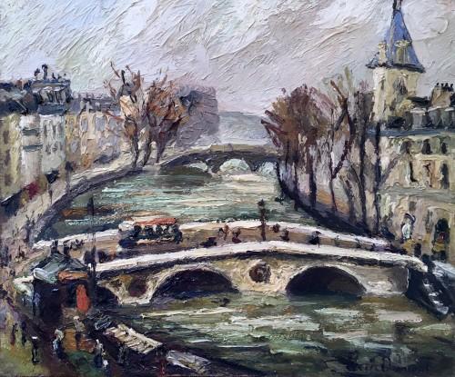 Pont au Change in Paris - Pierre DUMONT (1884-1936)