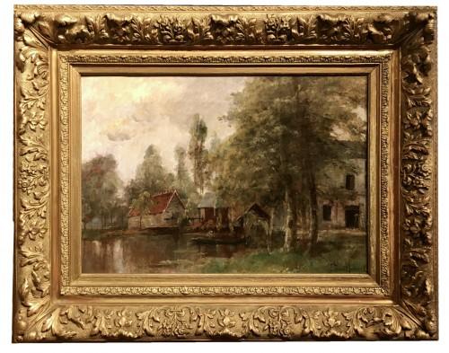Fisherman by the river - Paul-Désiré Trouillebert (1829-1900)